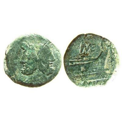 Republic Bronze As of ME, Janus and Prow, ex. RBW Coll, Crawf 132/3