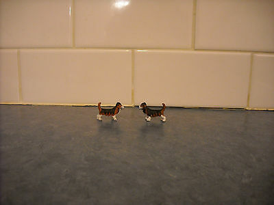 Lot Breyer Stablemate Farm Basset Hound Dogs Hunt Play Set Mini Doll House Toy