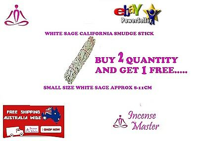 California White Sage Smudge Stick Small 8- 11cm Smudging Aroma incense_master