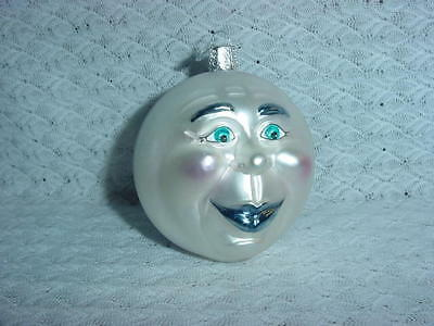 """Old World Christmas"" Man Face Moon Glass Ornament~~Man in the Moon"