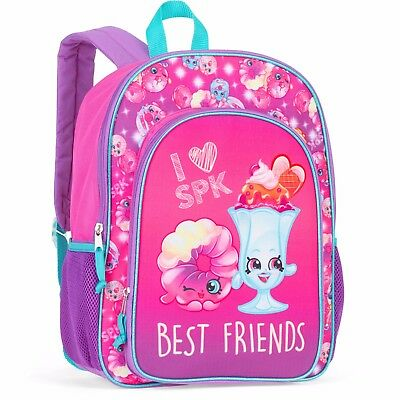 """16"""" Shopkins Girl's Backpack Best Friends Pink Purple Sparkles NEW Christmas"""