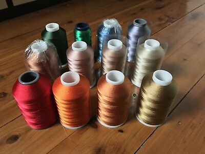 Bulk Lot Rayon Machine Embroidery Thread 16 Reels Of 5000m