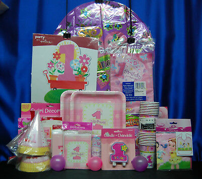1st Birthday Princess Party Set 19 Girl Supplies Favors