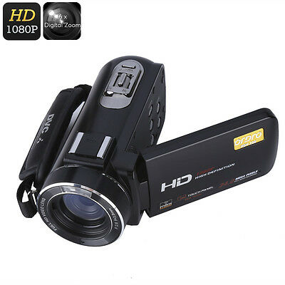 WiFi Digital Video Camera Recorder DVR, HD, Camcorder, 8MP Sensor, 16x Zoom
