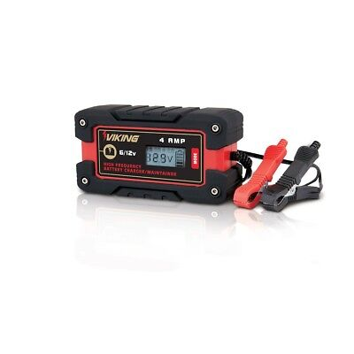 4 Amp Auto LCD Microprocessor Controlled High Frequency Battery Charger 6/12v