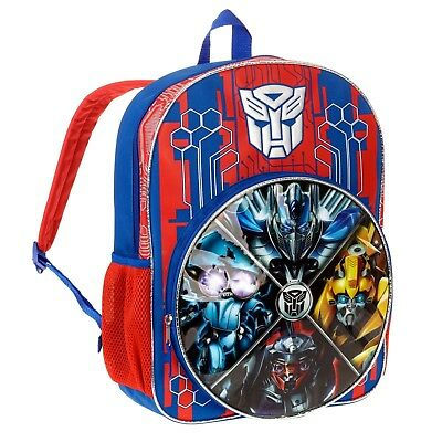 "16"" Transformers Backpack Last Knight Bumblebee Optimus Prime NEW Christmas"