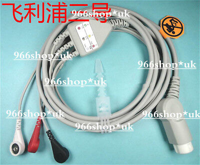 For 3 lead ECG Cable for Philips MRX & Heartstart XL M3536M M3536A M4735A M1669A