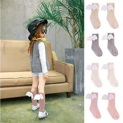 Angel's Wing Baby Toddler Infant Kid Cotton Warm Socks Stockings Knee Tight 0-4Y