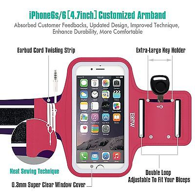 NEW EOTW PINK FITNESS EXERCISE WORKOUT ARMBAND iPhone 5 5S 6 6S SAMSUNG !!!