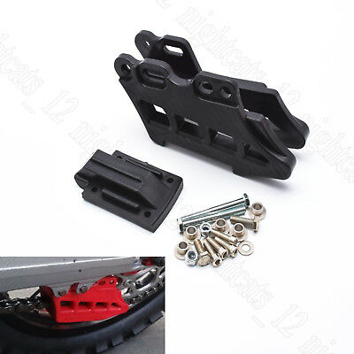 Black Rear Chain Guide/Guard For DirtBike CRF KLX KDX KXF RM RMZ DRZ YZ YZF WRF