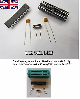 ATMEGA328P chip ARDUINO (with bootloader) +DIL socket+16MHz crystal+capacitors
