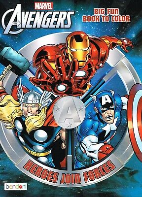 Marvel Avengers® Coloring and Activity Book - Set of 2 Books With 96 pages each