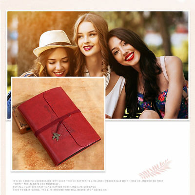 DIY Manual Photo Album Scrapbook Retro Vintage Album Leather Photobook Xmas Gift