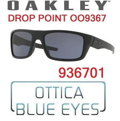 f0f27ada0c Occhiali da Sole OAKLEY SUNGLASSES OO 9367 936701 DROP POINT MATTE BLACK  GREY