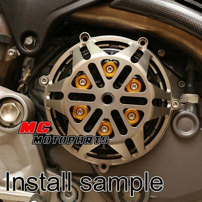 For Ducati Engine Billet Clutch Cover Titanium 748 999 1098 1198 R 916 998 CC21