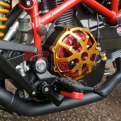 For Ducati Engine Billet Clutch Cover Red For Hypermotard 1100 M1100 M900 CC01