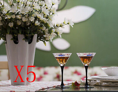 5X 150ML Crystal Glass Red Wine Foreign Wine Goblet Multi-Use Cocktail Cup NN