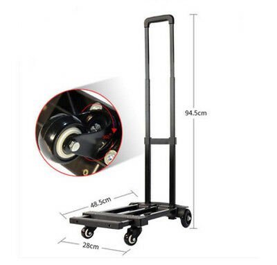 D46 Rugged Aluminium Luggage Trolley Hand Truck Folding Foldable Shopping Cart