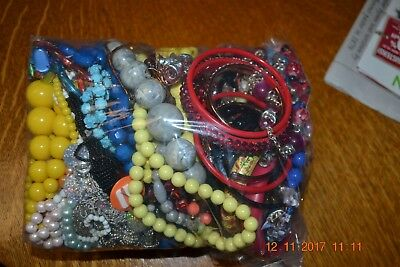 4+ pounds Lot of Modern/Vintage Costume Mixed Jewelry Very Little Junk Much New