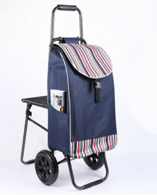 D167 Rugged Aluminium Luggage Trolley Hand Truck Folding Foldable Shopping Cart
