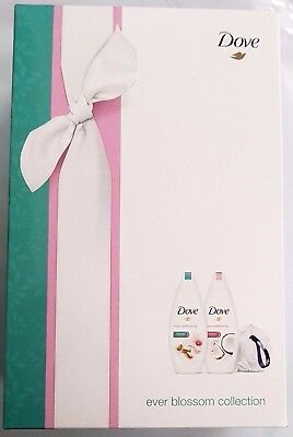 Dove Ever Blossom 3 Piece Gift Set - Purely Pampering Body Wash & Shower Puff