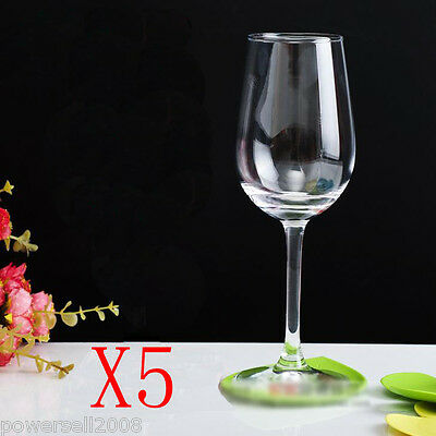 5X 350ML Contracted Toughened Glass Red Wine Foreign Wine Goblet Multi-Use NN
