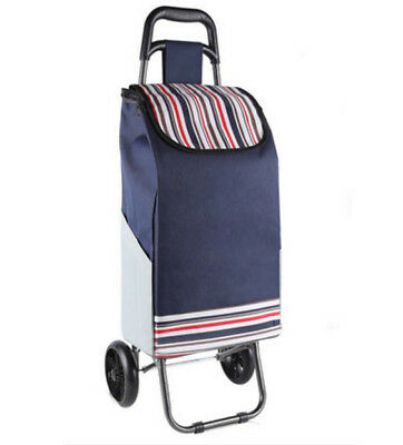 D151 Rugged Aluminium Luggage Trolley Hand Truck Folding Foldable Shopping Cart