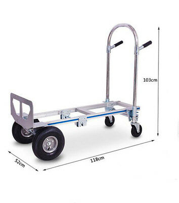D29 Rugged Aluminium Luggage Trolley Hand Truck Folding Foldable Shopping Cart