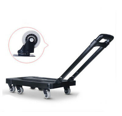 D56 Rugged Aluminium Luggage Trolley Hand Truck Folding Foldable Shopping Cart