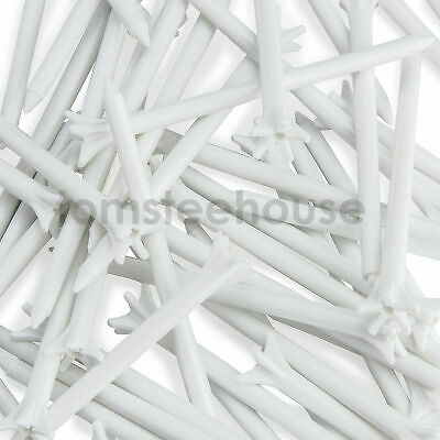 100 x Zero Friction Plastic Golf Tees - 83mm MIXED COLOUR TEES