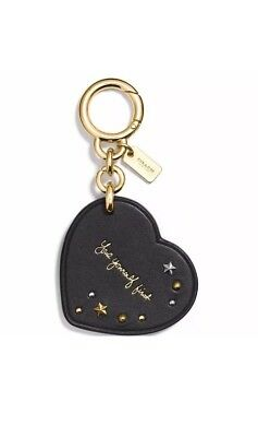 NEW Coach X Selena Gomez Leather Heart Bag Charm - Love Yourself First NWT