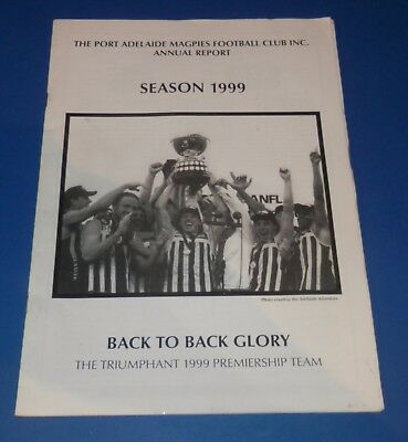 1998 Port Adelaide Magpies SANFL Annual Report signed by Darryl Poole