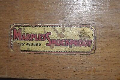 Vintage W.Marples & Sons  Shockproof Timber Level Woodworking Old Tools