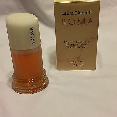Laura Biagiotti Roma EDT Eau De Toilette 50 ml Natural Spray 1.7 Oz