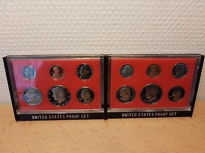 1980 1981 LOT 2 x USA UNITED STATES PROOF SET