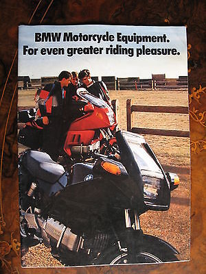 BMW motorcycle equipment 22 Page Brochure