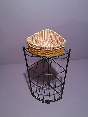 Longaberger Wrought Iron Corner Stand with 1 Basket w/Liner