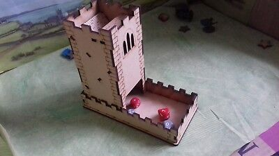 MDF Dice tower in the design of a castle tower Personailsed