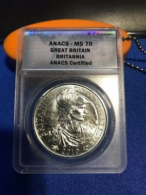 2010 GREAT BRITAIN BRITANNIA COIN! 1oz .999 FINE SILVER! ANACS MS70!