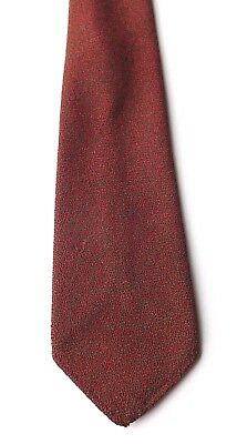 Vintage 1950s 60s MUNROSPUN Pure Wool Neck Tie Claret and Green Weave  FREE P&P