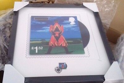 David Bowie, Earthling, framed print and stamp Royal Mail LTD Edition