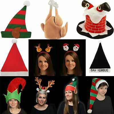 novelty christmas hats 4 pack xmas sexy fancy dress party office work novlty hat