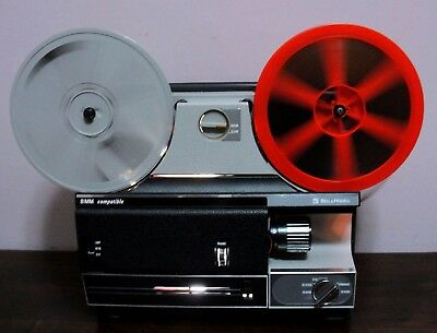 Bell & Howell Compatible Super 8/Reg 8mm Slow-Motion Movie Projector ~Serviced~