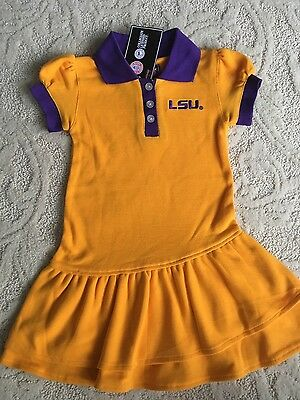 Girl's 3T purple and gold LSU dress NWT