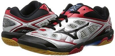 Mizuno JAPAN Badminton Shoes Wave Fang RX 71GA1505 Silver Black Red Japan EMS