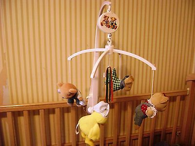 Springmaid Musical Carousel Baby Crib Mobile -  Animals