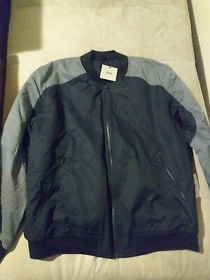 8bb3b13bf MENS BOMBER GRAY & Navy blue ASOS jacket size xxl , brand NEW with tags !!