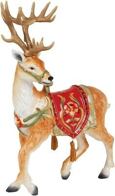 Xmas Deer Figurine Holiday Decor Christmas Decoration Hand Painted And Crafted
