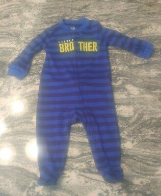 JUST ONE YOU Baby Boy PAJAMAS Size 6 MONTHS Sleepwear little brother BLUE NWOT