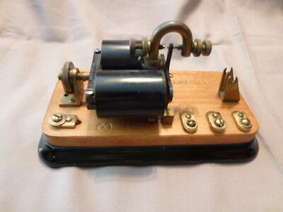 Antique Western Electric Sounder For Railroad Telegraph Morse Code    Wut